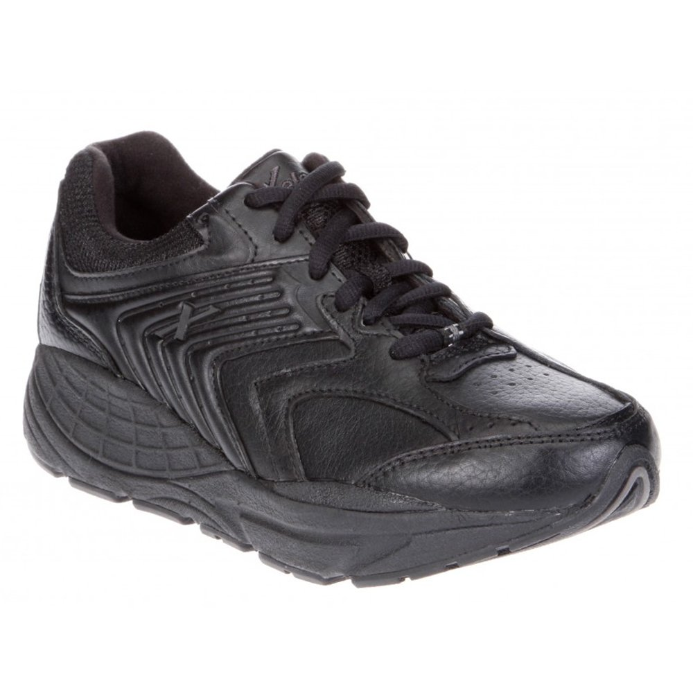 Xelero Matrix Women's Comfort Therapeutic Extra Depth Sneaker Shoe: Black 8.5 X-Wide (2E) Lace