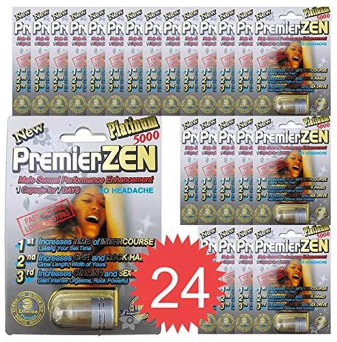 (24-Packs) PremierZen Platinum 5000mg Male Enhancement Pill - Fast US Shipping