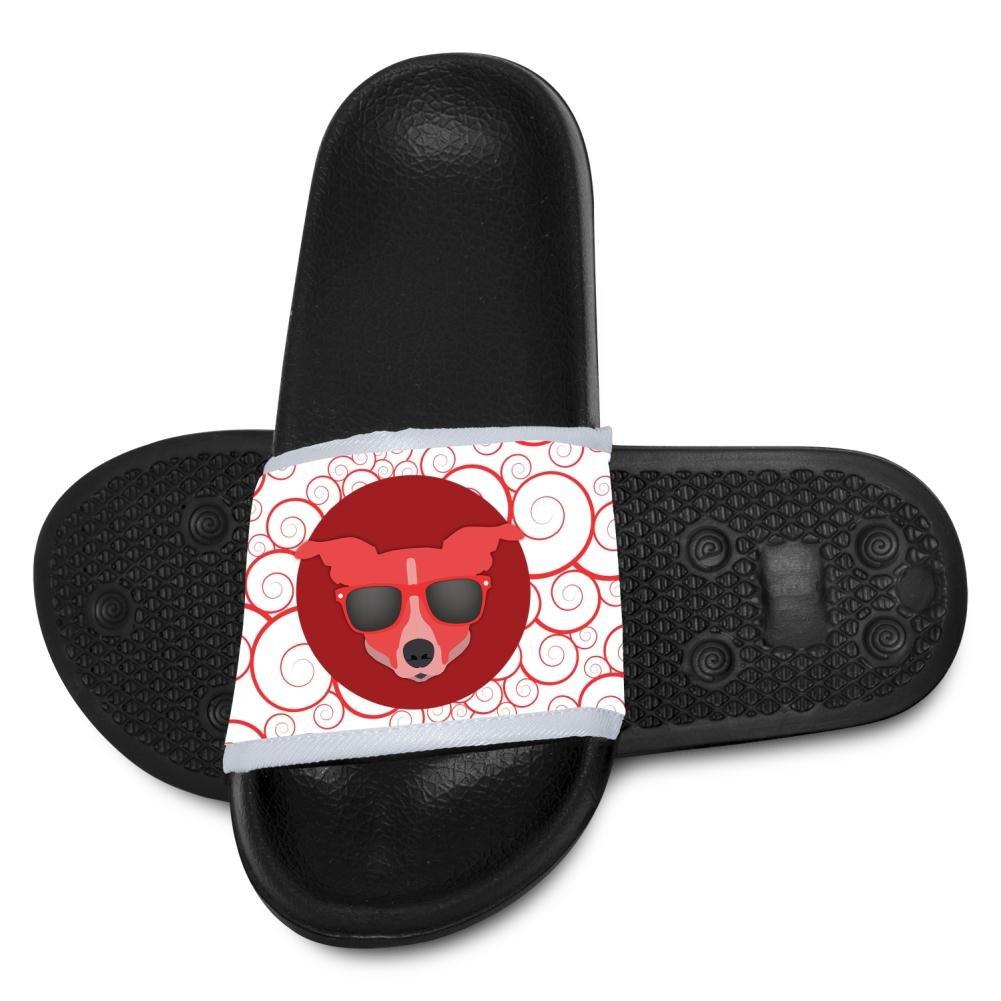 Kids Dog Wearing Sunglasses Slippers Summer Beach Sandals for Boys Girls