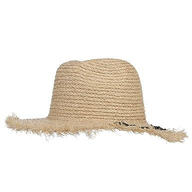 5c6d9f82 New Summer Hats for Women Letter Raffia Wide Brim Sun Hat Fashion Ladies  Beach Caps Church Jazz Straw Hat at Amazon Women's Clothing store: