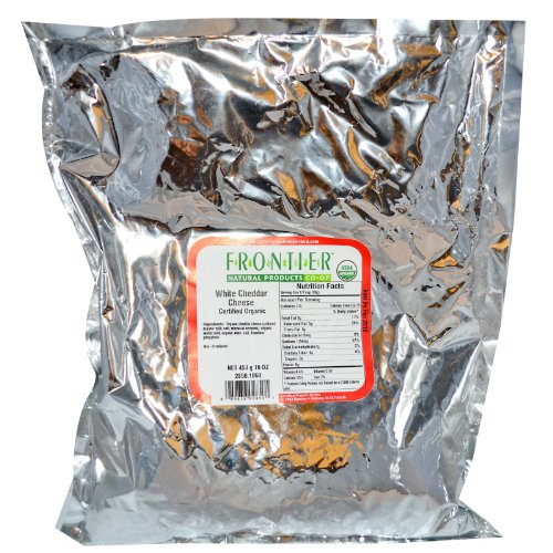Frontier Bulk Cheese, White Cheddar Cheese Powder, CERTIFIED ORGANIC, 1 lb. (Organic Cheddar Cheese)
