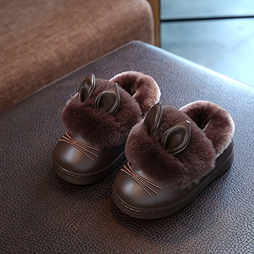 Fankou pantofole di cotone invernale da donna cartoon genitori home giovane indoor ragazzi e ragazze pantofole maschio anti-skid scarpe di cotone 1-2-3 anni, 18-19 / lunghezza interna 17cm, colore caf