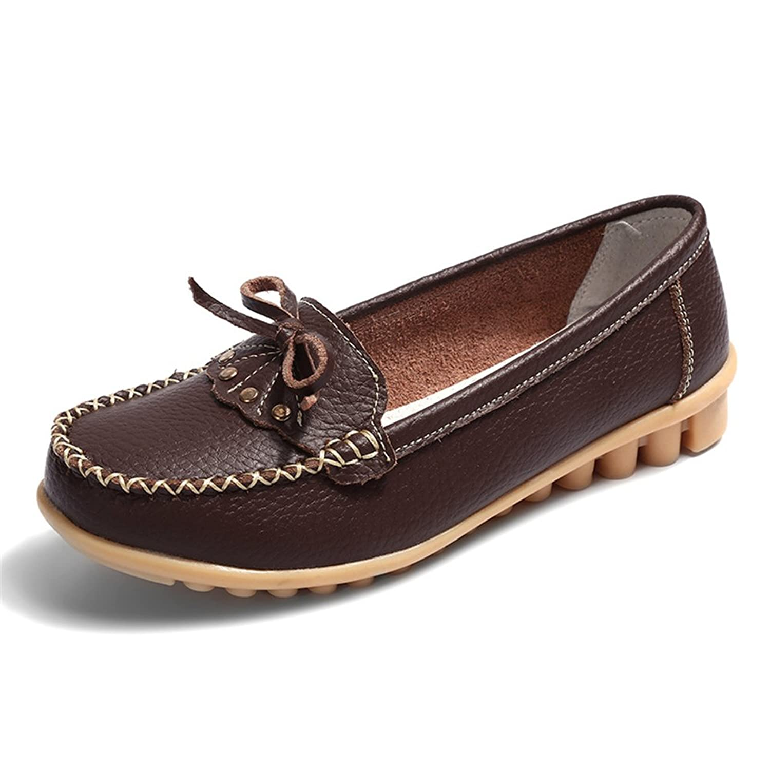 a965b8d2fba xiaoyang Classic Women s Leather Loafers Breathable Shoes Wild Driving Slip  on Casual Flats Oxfords