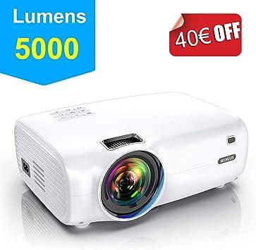 Proyector, WiMiUS 5000 Lúmenes Proyector Portátil Full HD Soporta ...