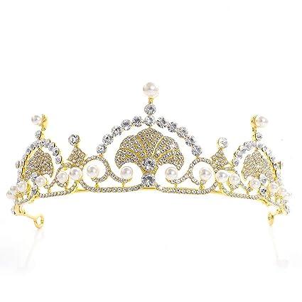 Girls Kids Crystal Bling Princess wedding Bridemaid Tiara Crown Hair headband