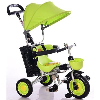 QXMEI Triciclo De Pedal para Niños Carros De Bebé Plegables ...