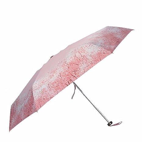 Mini Ultra Light Sun Paraguas, Sombrilla, Protección Uv, Hembra Plegable, Protector Solar