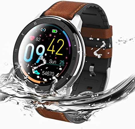 Amazon.com: LoMe Smart Watch,PPG + ECG Heart Rate Blood ...