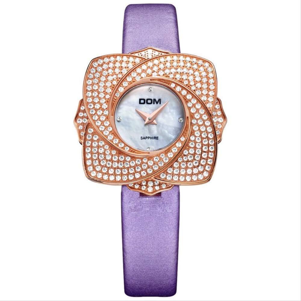 WLKVUOT 女性のための腕時計豪華でエレガントな防水時計花の形のクォーツ時計レザーストラップは、すべての機会のための素晴らしい女性の腕時計を見る