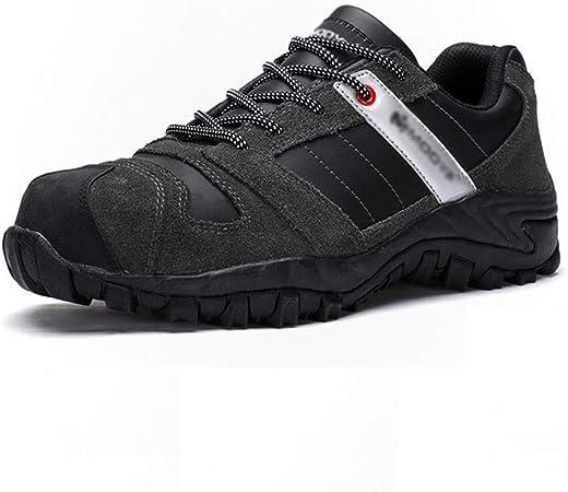 Sin marca Zapatos De Exterior Zapatos De Seguridad Ligeros, Transpirables, Cómodos, para Hombre Zapatos De Seguridad con Punta De Acero Zapatos De Trabajo Zapatos De Seguridad para Exteriores: Amazon.es: Hogar