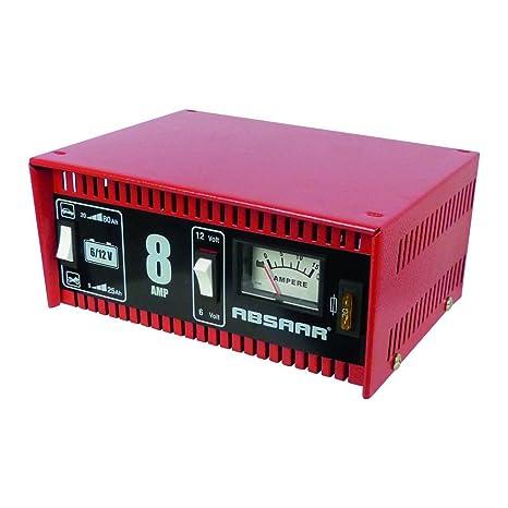 Absaar 77911 - Cargador de batería para coche y moto (8 A, 6/12 V ...