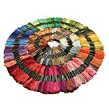 150 Skeins of 8m Multi-color Soft Cotton Cross Stitch Embroidery Threads ...