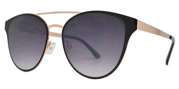Amazon.com: Gafas de sol redondas de metal retro con ojales ...