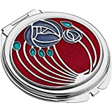 Compact Mirror with Mackintosh Rose & Lattice Design (Red) by Celtic Lands
