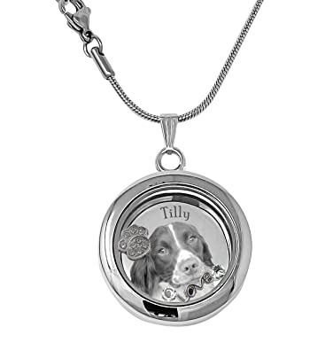 Puppy Dog Paw Print Lover Floating Charms Animal Charity Living Locket Heart Necklace With 18 Chain ZEiLFLulk