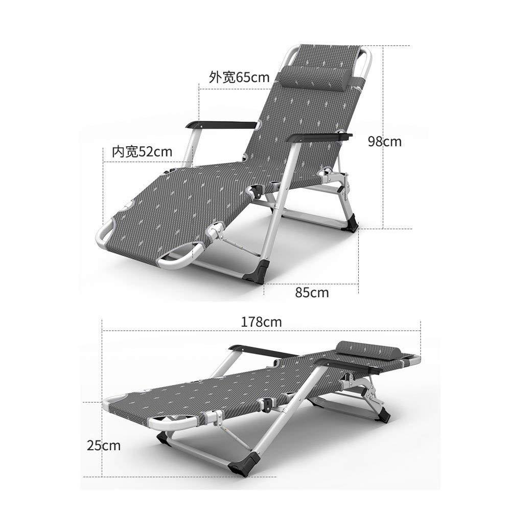 YXB trädgårdsstol, rostsäker stol, hopfällbar stol, justerbar tyngdkraftsstol, vilstol (färg: E) D