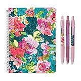 Vera Bradley Women's Floral Mini Notebook with Pen Set, Superbloom Medley