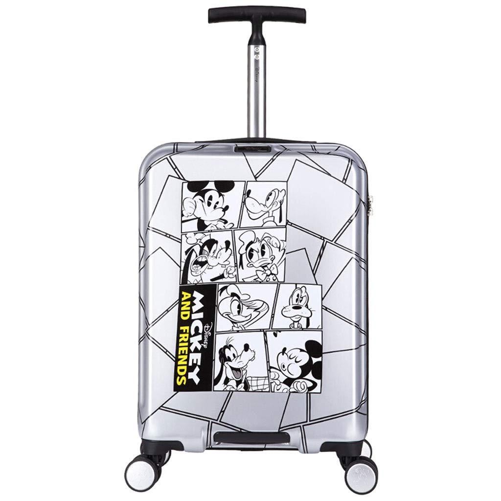 トロリーケース- 子供の漫画のトロリースーツケース20インチ、普遍的な車輪の学生のスーツケースの赤ん坊の漫画の搭乗 (Color : Gray, Size : 20in) B07VB6G24C Gray 20in