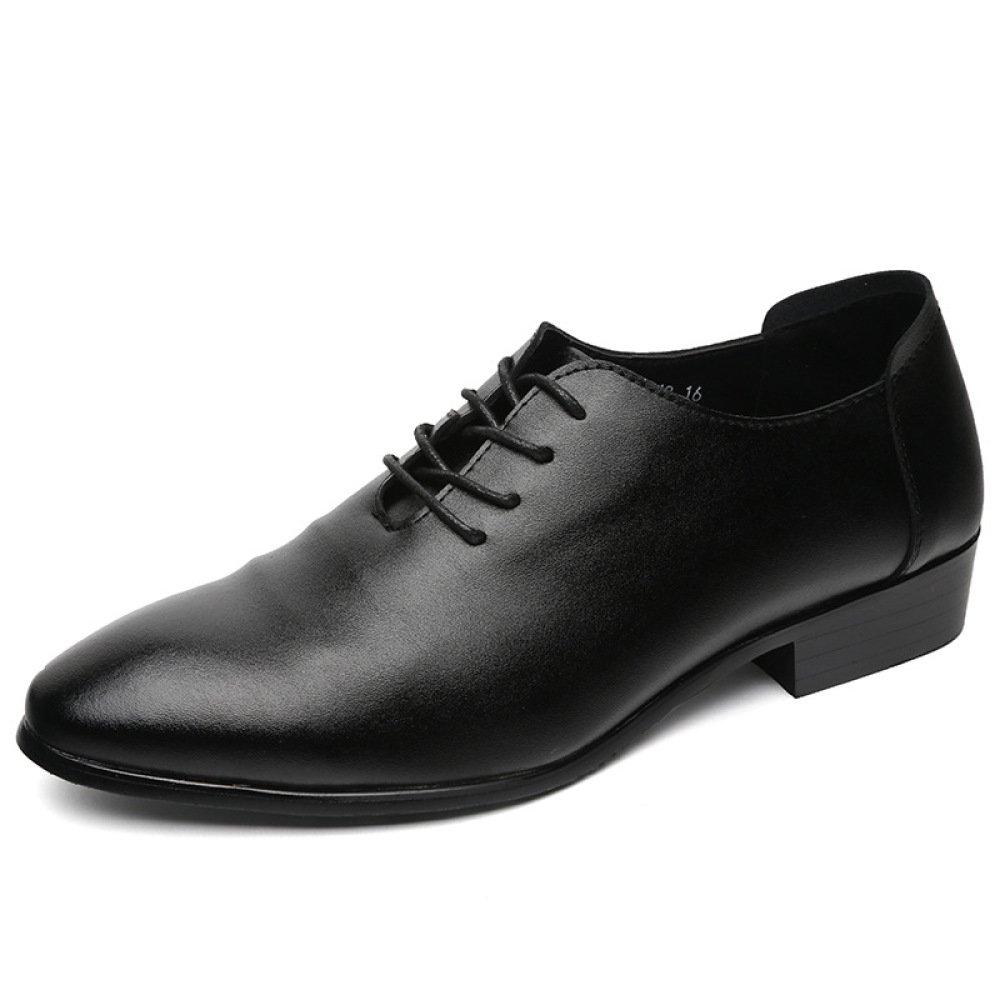 Koyi Zapatos Casuales de los Hombres Nueva Correa de Cuero Suave Antideslizante Calzado Negro Resistente al Desgaste 41 EU|Black