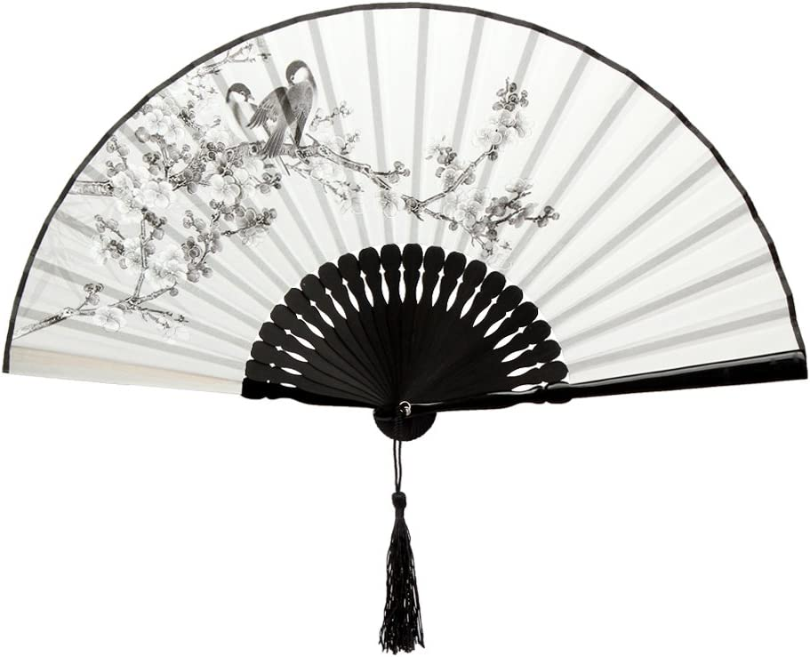 Bambus Fächer Handfächer Taschenfächer Deko Geschenk Kirschblüte Häschen Rosa