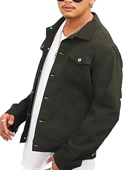 ラグスタイル デニムジャケット メンズ Gジャン ジャケット ストレッチ カツラギ