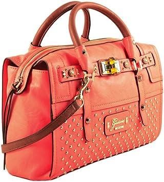 GUESS sac a main avec des clous RIZA VS436506 noir, blanc