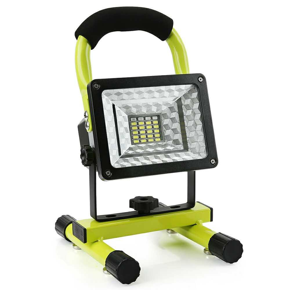 LED Work Light with Magnetic Stand 15W 24 LED Rechargeable Shop Light Portable Outdoor Camping Spotlights with Dual USB Port and Emergency SOS Mode Review