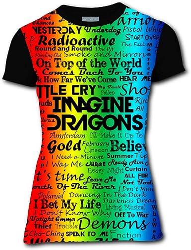 Imagine Dragons Evolve 3D Printing Short Sleeve Crew Neck T Shirt for Men