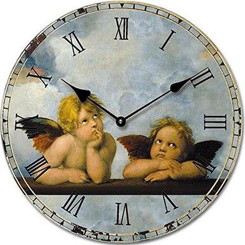 orologio da parete design angelo 30cm orologio per cucina o salotto nuovo amazonit casa e cucina