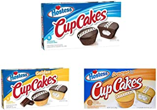 product image for Hostess Cupcakes Variety Pack (Chocolate, Orange, Golden) - 3 Boxes (1 of Each Flavor)