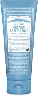 product image for Dr. Bronner's - Organic Shaving Soap (7 Ounce) - Certified Organic, Sugar and Shikakai Powder, Soothes and Moisturizes for Close Comfortable Shave, Use on Face, Underarms and Legs (Unscented)