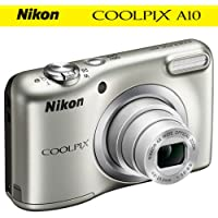 Nikon COOLPIX A10 16.1MP 5x Zoom NIKKOR Glass Lens Digital Camera (26518B) Silver - (Certified Refurbished)