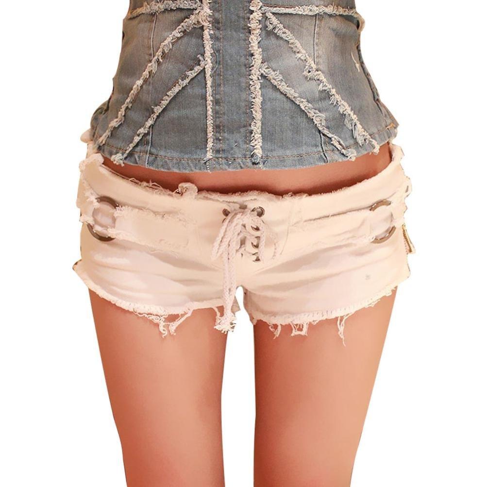 Rambling 2018 Women Sexy Denim Jeans Fashion Shorts Pants Low Waist Super Mini Short Pants