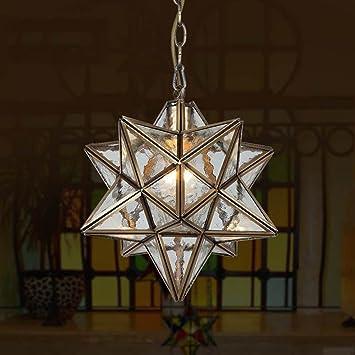 Amazon.com: Creative Diamond Star - Lámpara de techo con ...