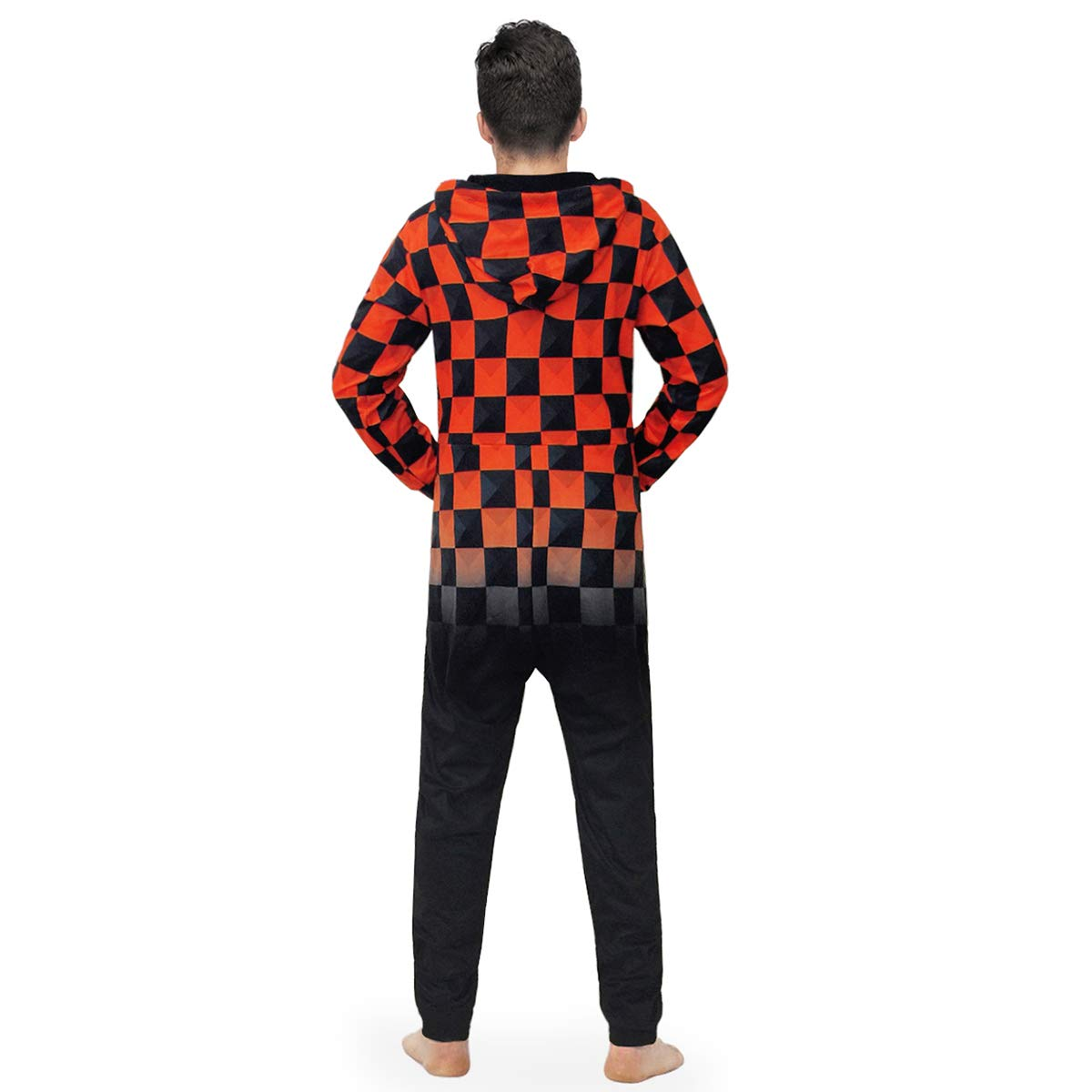 Morbuy Mens 3D Print Onesie Hoodie Adult Jumpsuit Stylish Printed One Zip Playsuit Hooded Autumn Warm Pajama Plus Size Sleepwear