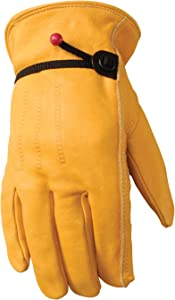 Leather Work Gloves with Adjustable Wrist, Small (Wells Lamont 1132S)
