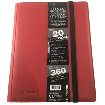 Premium PRO-Binder 9-Pocket Cards, Red: Toys & Games