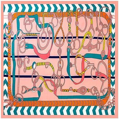 QYYDWJ Bufanda Cuadrada de Seda de Marca Mujer pañuelo Grande Mujer española Dama Chal Bandana 130 * 130 cm no 6: Amazon.es: Deportes y aire libre