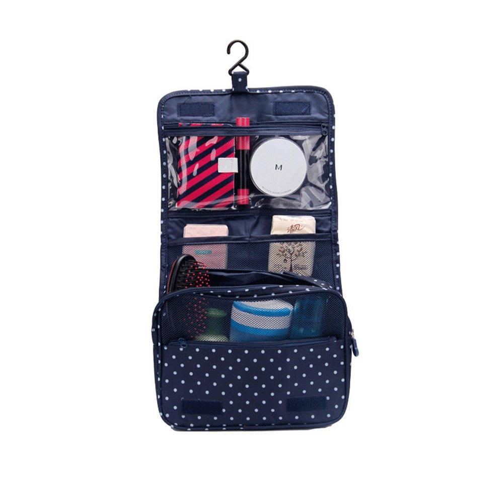 Vivor Toiletry Bags impermeabile, Kit da viaggio Organizer porta trucchi-Borsa trousse da viaggio con gancio-Blu navy