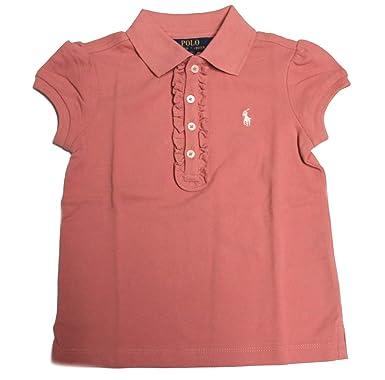 Polo_Ralph Lauren IS70 - Camiseta de Manga Corta para niña Rosa ...