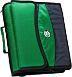 Case-it 2-Inch O-Ring Zipper Binder with Removable Tab File, Green, D-901-GRE