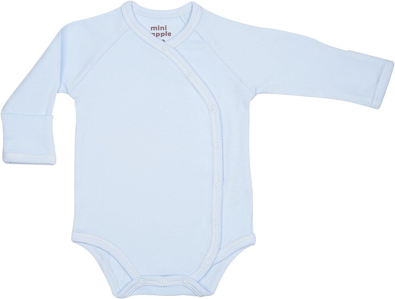 Mini Apple Tree Unisex-Baby Organic Kimono-Style Bodysuit with Side Snaps