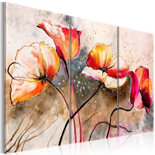 murando - Cuadro en Lienzo 120x80 - Impresion de 3 Piezas Material Tejido no Tejido Impresion Artistica Imagen Grafica Decoracion de Pared Flores 22353