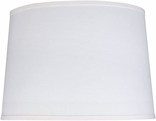 Aspen Creative 32326 Transitional Hardback Empire Shaped Spider Contruction Lamp Shade in White, 17 wide 15 x 17 x 12