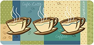 "product image for Cushion Comfort - Stain Proof Mats, 20"" X 42"", Coffee Cups"
