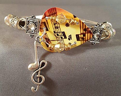 (Guitar Pick and Guitar String Bracelet