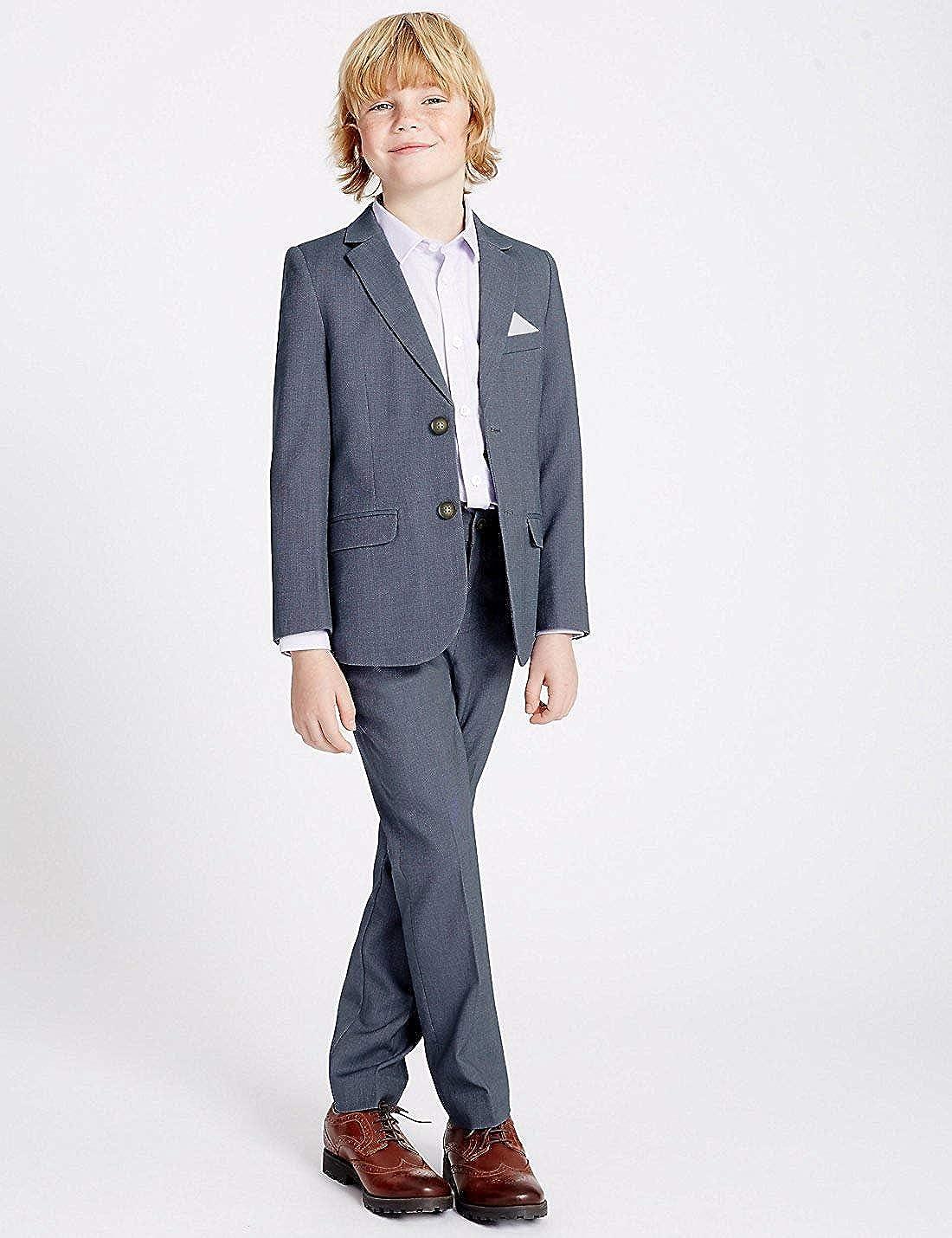Amazon.com: Grey Formal Wedding Boys Suit Children Tuxedo ...