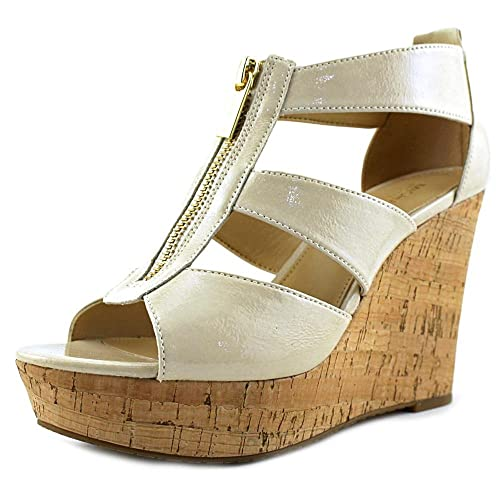 8f74d2adfd MICHAEL Michael Kors Womens Damita Leather Open Toe Casual, Ecru, Size 9.0