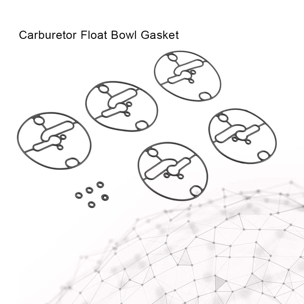 5 st/ücke Vergaser Float Bowl Dichtung Ersatzgummi Rasenm/äher Ersatzteil Kit Fit f/ür Briggs /& Stratton 698781