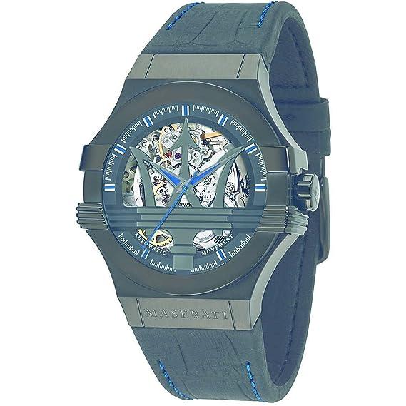 Reloj Maserati Potenza R8821108009 Automático Hombre Negro Edición limitada